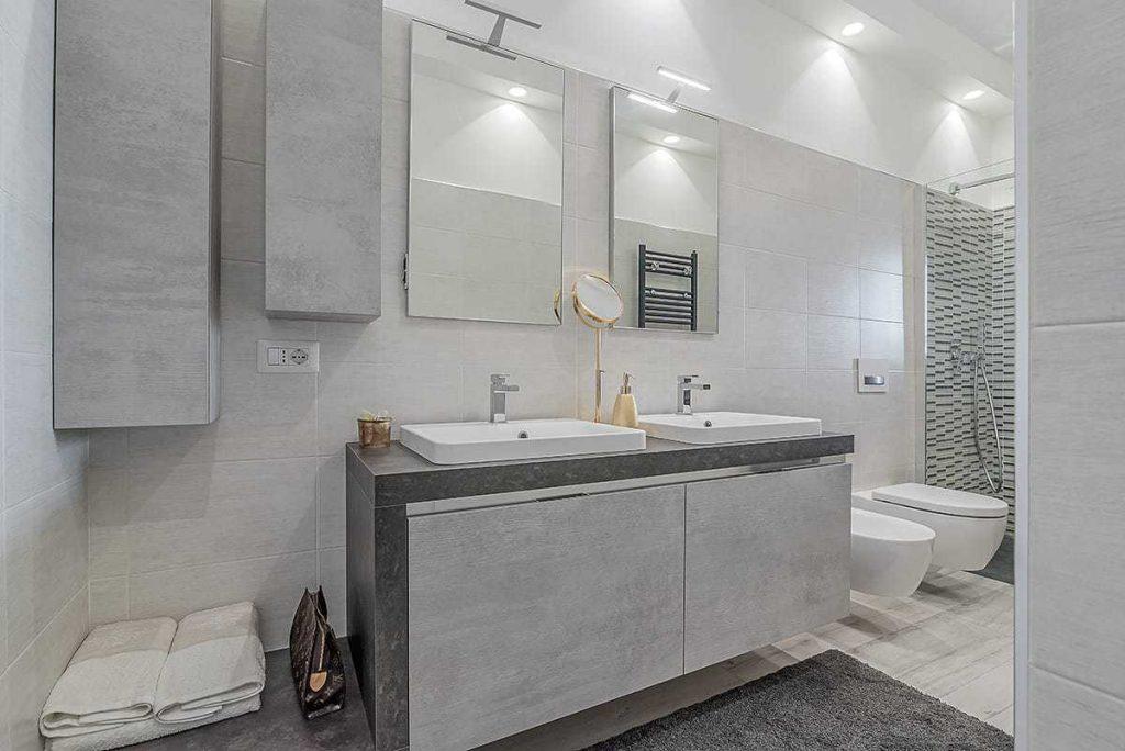 bagno Ristrutturazione appartamento di 80 mq a Roma, Appia