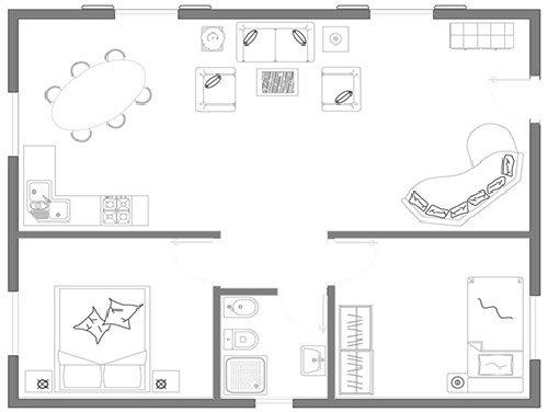 progetto appartamento 80 mq