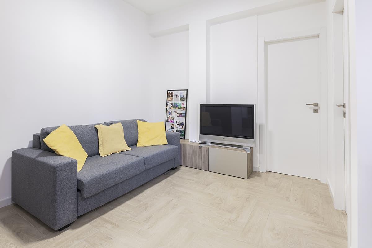 salone ristrutturazione appartamento 40 mq casilina roma